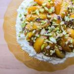 afghanischer Pistazien-Gries-Kuchen mit Zitronen-Rosenwasser-Sirup
