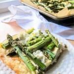 Vier-Käse-Quiche mit grünem Spargel